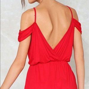 Cute red romper